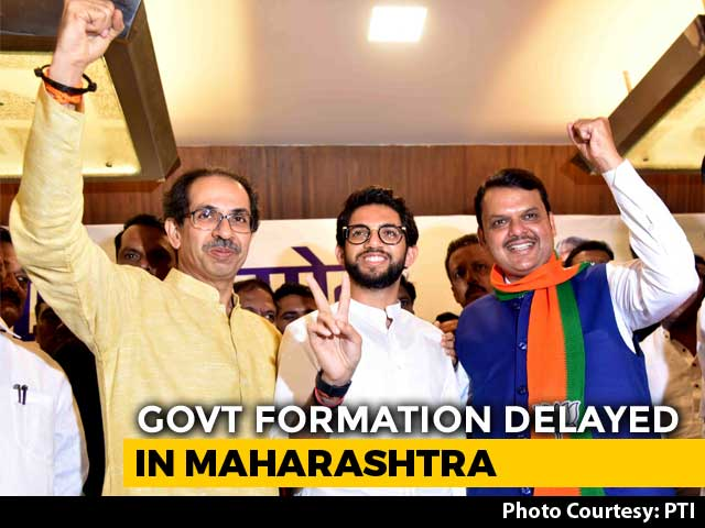 "Video : BJP-Sena Tussle Over ""50:50"" Deal Delays Maharashtra Government Formation"