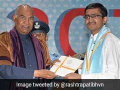 IIT Student Gets Medal From President Kovind For Teaching Kids For Free