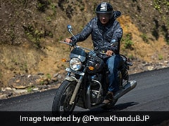 Watch: Arunachal Pradesh Chief Minister Rides Interceptor 650 To Promote Tourism