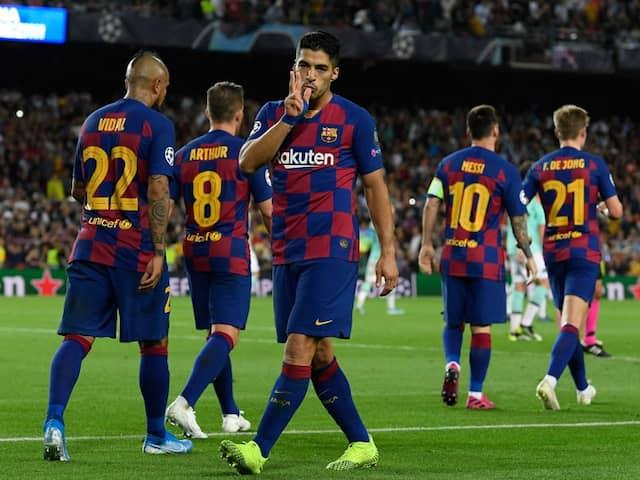 UEFA Champions League: Luis Suarez Scores Twice As Barcelona Break Down Impressive Inter Milan