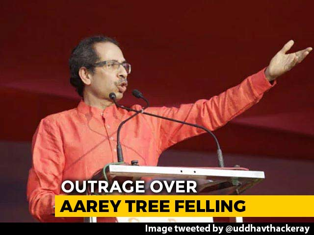 "Video : ""Will Deal With Murderers"": Sena's Uddhav Thackeray Backs Aarey Protest"