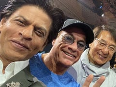 When Shah Rukh Khan Met His 'Heroes' Jean-Claude Van Damme And Jackie Chan. See Pics