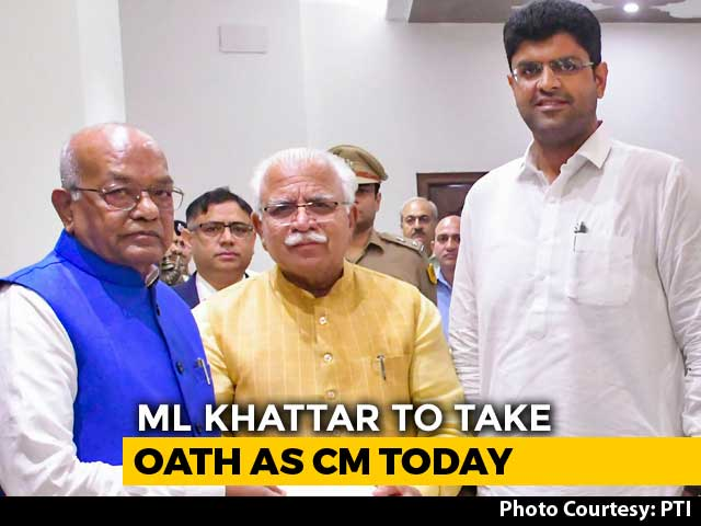 Video : ML Khattar Set For Term 2 As Haryana Chief Minister, Swearing-In Today