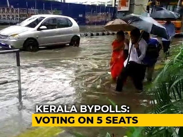 Kerala Voters Battle Heavy Rain To Cast Vote In Assembly Bypolls