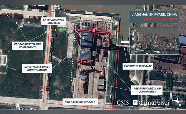 Satellite Images Show China Building Aircraft Carrier 'Factory': Experts