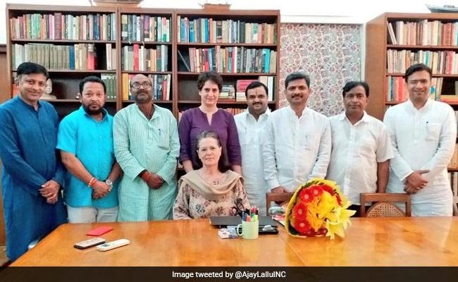 UP Congress Chief Ajay Kumar Lallu Meets Sonia Gandhi Ahead Of Bypolls
