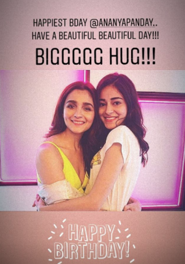 To Ananya Panday On Her Birthday With Love From Alia Bhatt Kartik Aaryan Tara Sutaria And Others Posting stories is not a big deal and all of us know how to post stories. to ananya panday on her birthday with