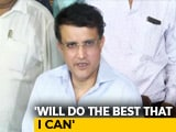 "Video : ""Emergency Like Situation"": Sourav Ganguly On Becoming BCCI President"