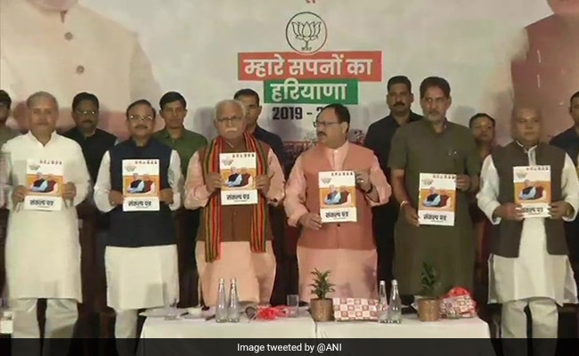Haryana Election 2019: BJP's Manifesto Out, Focus On Farmers, Women
