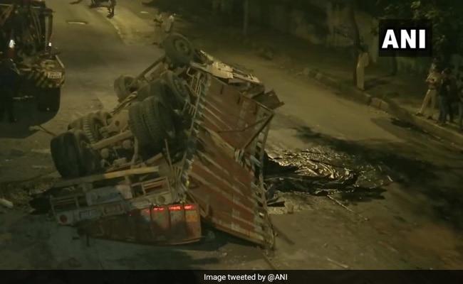 Speeding Truck Falls Off Flyover In Mumbai, 4 Injured
