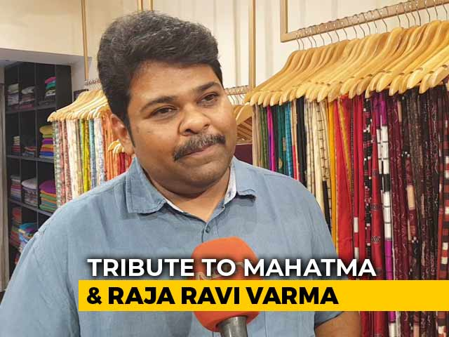 Video : Tribute In Saree To Mahatma Gandhi And Raja Ravi Varma