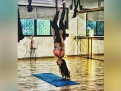 मलाइका अरोड़ा ने Yoga Photo शेयर कर मचाया धमाल, छत से उल्टी लटकी दिखाई दीं एक्ट्रेस