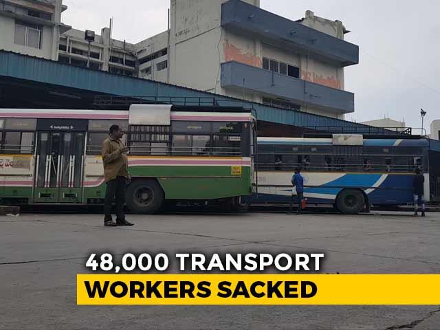 "Video : ""No Salary For Dussehra... Feel Sad"": Sacked Telangana Transport Staff"