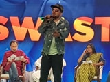 Video: Watch: Rapper Naezy Performs Banega Swasth India Anthem