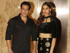 Salman Khan Attends Ramesh Taurani's Diwali Party With Saiee Manjrekar