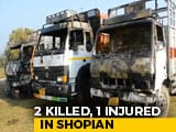 Video : 2 Drivers Shot Dead By Terrorists In Kashmir's Shopian, Truck Set On Fire