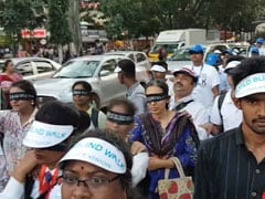 Hundreds Walked Blindfolded Behind The Visually Impaired In Bengaluru