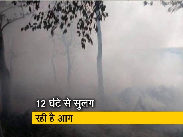 Video : गाजियाबाद में कूड़े के ढेर में लगी आग