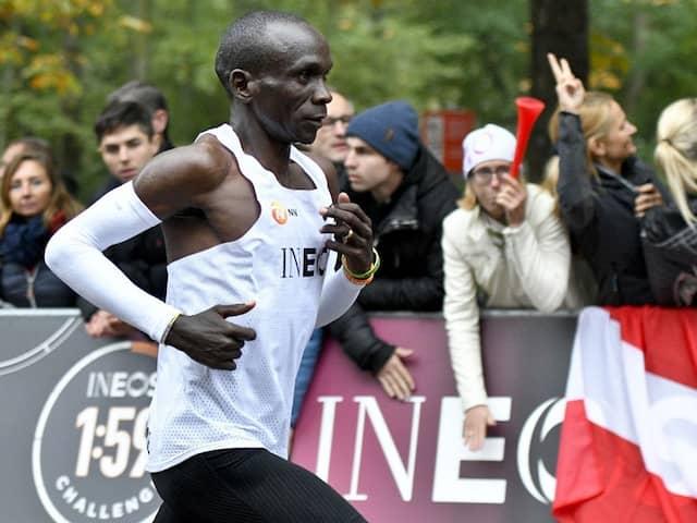 Eliud Kipchoge First In World To Run A Marathon In Under 2 Hours