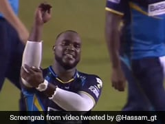 West Indies Bowler Ashley Nurse's Kapil Sharma-Inspired Wicket Celebration In CPL Goes Viral. Watch