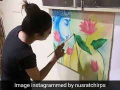 MP, Actor Nusrat Jhan Is Painting On Her Vacant Time