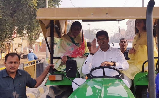 Haryana Assembly Election 2019: Dushyant Chautala Drives Tractor To Polling Booth, Explains Why