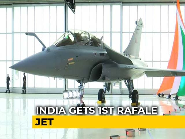 "Video : 1st Rafale Handed Over By France, Rajnath Singh Says ""Historic Day"""