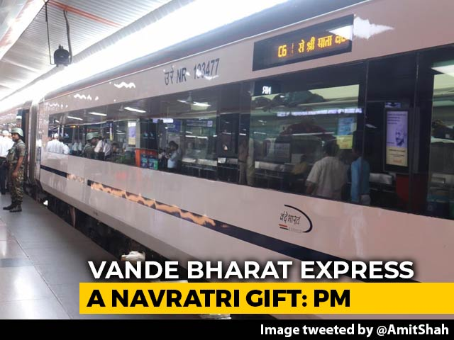 "Video : ""Navratri Gift"" For Jammu, Says PM On Launch Of New Vande Bharat Express"