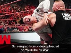 WWE में दिखी ब्रॉक लेसनर की हैवानियत, रेसलर के बेटे को इतना पीटा कि लोग बोले- 'बख्श दो...' देखें VIDEO