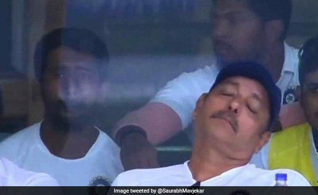 Ravi Shastri Napping During A Match Is Now Twitter's Favourite Meme