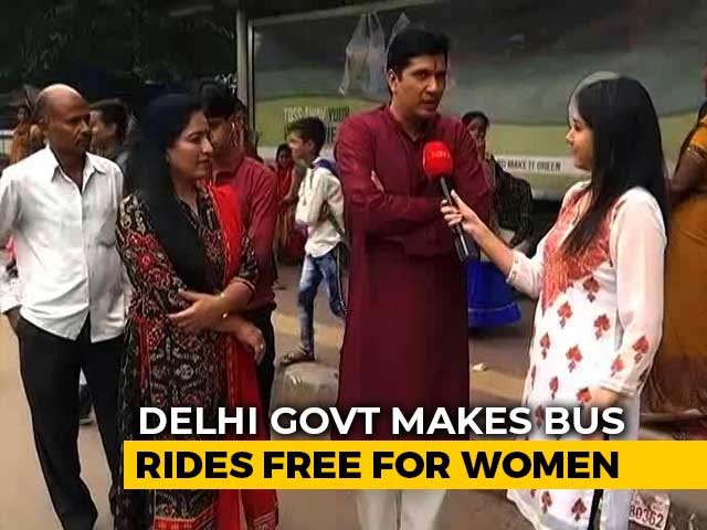 Video : Delhi Government Rolls Out Free Bus Ride Scheme For Women