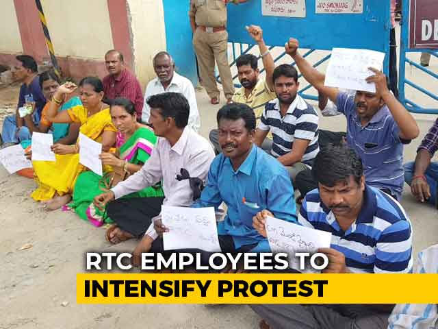 Video : Second Telangana Transport Staff Commits Suicide As Strike Enters Day 10