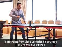 कुछ ऐसे MS Dhoni ने टेबल टेनिस मुकाबले में अपने बैकहैंड शॉट से ड्वेन ब्रावो को किया हैरान, VIDEO