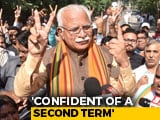 Video : Sweep For BJP's Manohar Lal Khattar In Haryana, Exit Polls Show