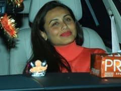 <i>War</i> Screening: Rani Mukerji Watches Hrithik Roshan And Tiger Shroff's Film