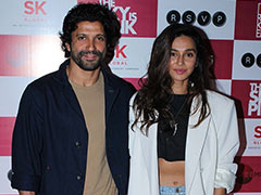 Farhan Akhtar Invites Shibani Dandekar, Janhvi Kapoor And Others To <i>The Sky Is Pink</i> Screening. See Pics