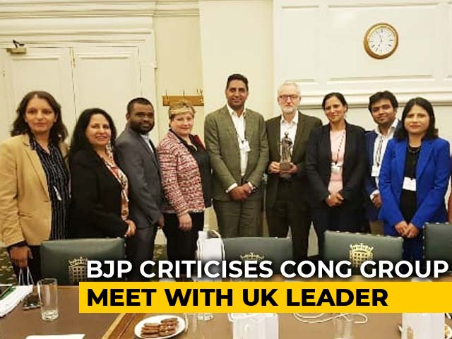 "Video : ""Appalling,"" Says BJP To Jeremy Corbyn's Tweet On Meeting Congress Group"