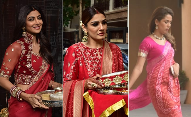 Anushka Sharma and Priyanka Chopra dazzle in Sabyasachi saris on Karwa Chauth