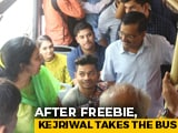 Video : Arvind Kejriwal Takes Bus Rides For Feedback On Free Travel For Women