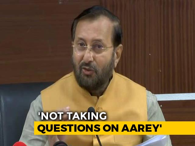 Video : Minister Prakash Javadekar's Cautious Response On Aarey Tree-Cutting Row