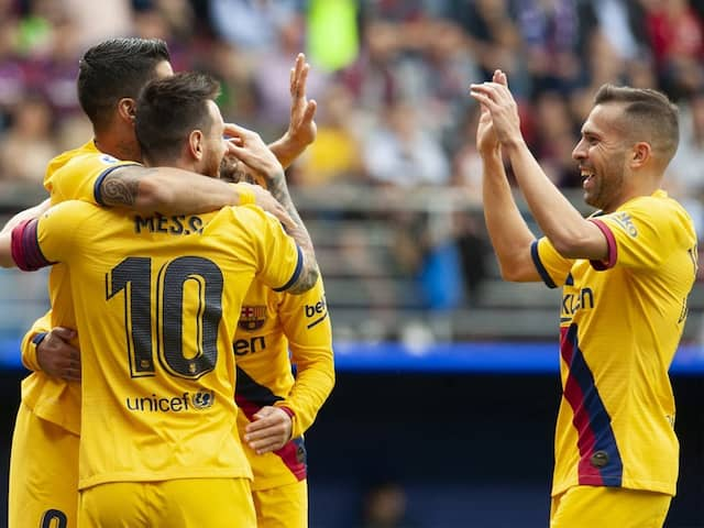 Barcelona vs Eibar: Lionel Messi, Luis Suarez And Antoine Griezmann Star In Barcelonas La Liga Win Over Eibar