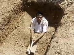 Dejected Telangana Farmer Digs His Own Grave, Tries To Bury Himself Alive