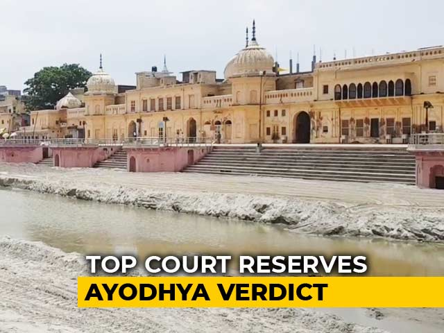 Video : Ayodhya Case: 40 Day Hearings In Supreme Court End