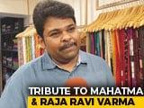Video : Tribute In Saree To Mahatma Gandhi And Raja Ravi Varma