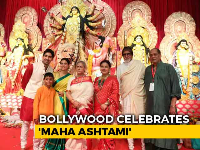 Bachchans Celebrate Durga Puja With Kajol And Other Stars