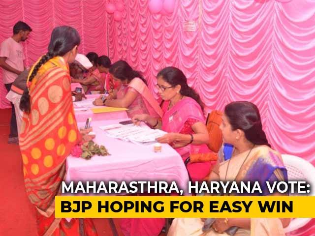 Video : Advantage BJP As Voting Begins In Maharashtra, Haryana