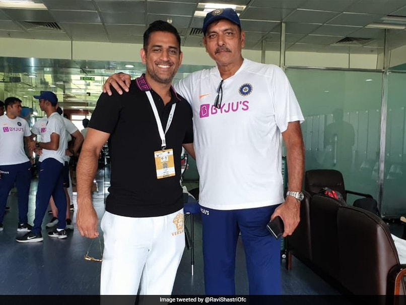 "Ravi Shastri Poses For Picture With MS Dhoni, Calls Him ""True Indian Legend"", Picture Goes Viral"