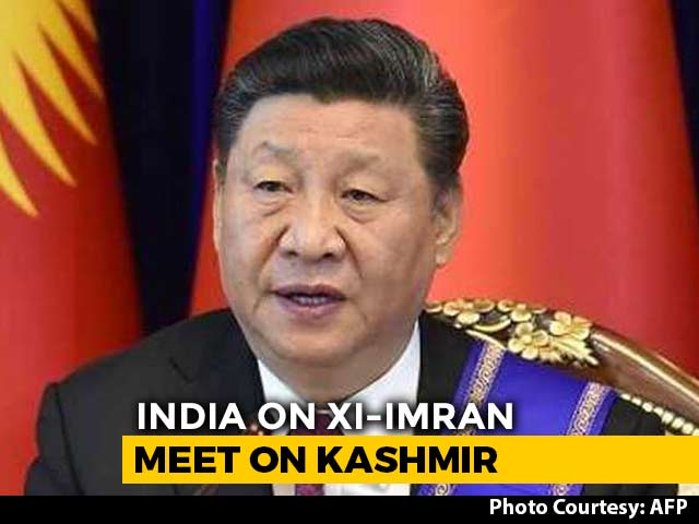 Video : To Chinese President Xi Jinping's Remark On Kashmir, India's Reply