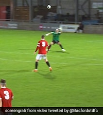 Watch: Player Scores Off An Unbelievable Header From Inside His Own Half