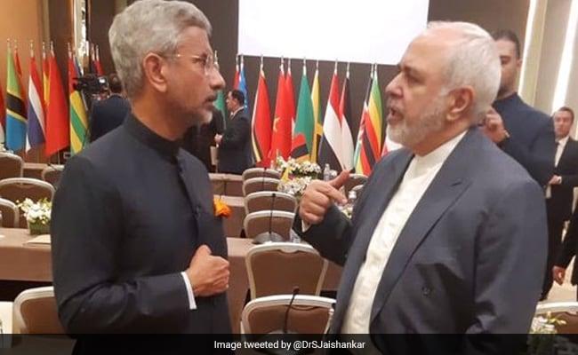 S Jaishankar Meets Iranian Counterpart Javad Zarif Hassan